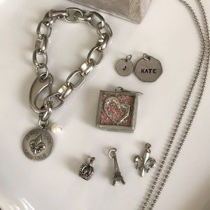Jewel Kade bundle-bracelet,charms, ball chain